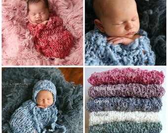 Swaddle Sack Newborn Baby Pouch Ready to Ship Cinch Sack Boy Natural Swaddler Cacoon Photo Prop Baby Girl COCOON Organic Outfit Bonnet Hat