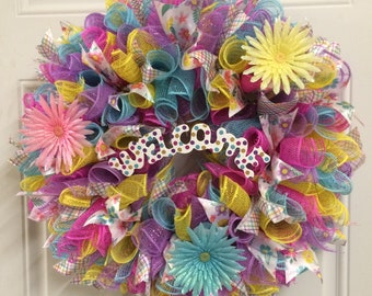 Pastel Colors Wreath