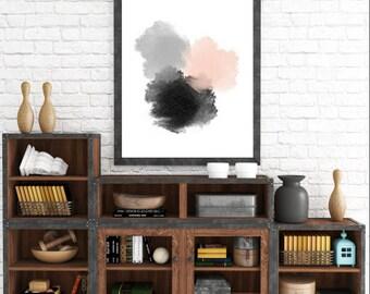 Modern Circle Art, Scandinavian Print, Geometric Poster, Abstract Art Print, Art Print, Modern Wall Art, Large Wall Print, Abstract Wall Art