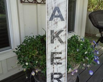 Bakery Sign,45x7.25, Rustic Custom Sign, Barnwood Sign, Bakery Vintage Sign, Bakery Fixer Upper, Framed Bakery Wood Sign
