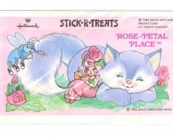 Vintage 1983 Hallmark Stick-r-Treats Rose Petal Place Sticker NIP