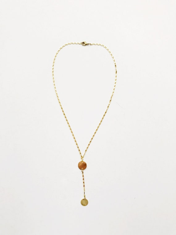 Golden Choker Drop Necklace