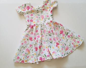 floral easter dress, pink floral dress, pink Easter dress, toddler Easter dress, baby Easter dress, matching dresses, Easter dress,
