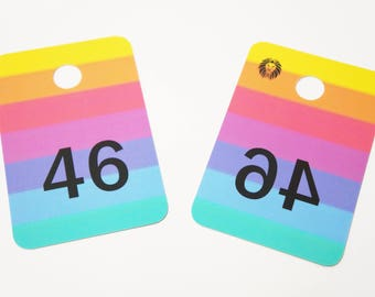 Live Sale Number Cards with Mirrored Numbers
