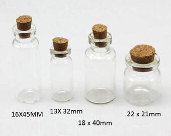 The 4 charms, glass jars