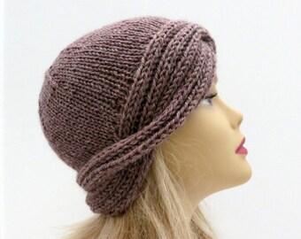 Knitting Pattern, Vintage Hat, Downton Cloche  PDF 243, Beanie, Hat Pattern