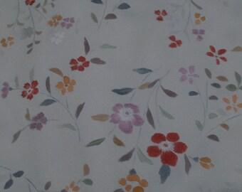 Vintage Japanese Silk Kimono Fabric Hand Tinted Blossom