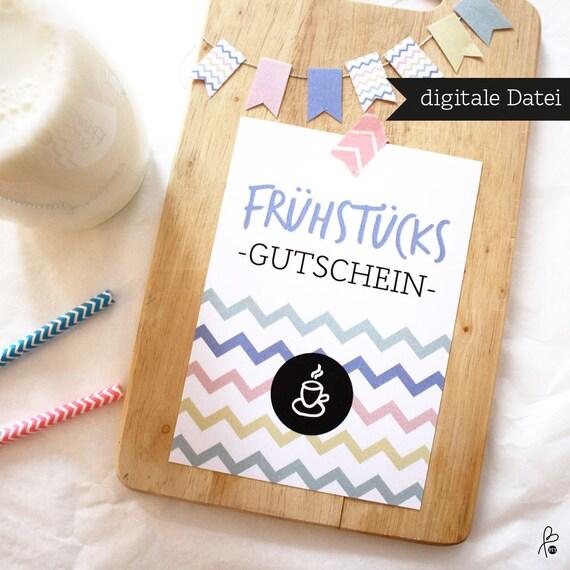 Gutschein fr hst ck muttertag postkarte printable - Gutschein selbst gestalten ideen ...