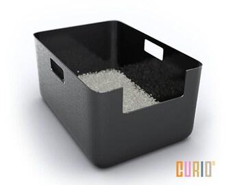 CURIO Litter Liner   Modern Litter Box Liner   Modern Cat Furniture   Designer Cat Litter Pan   Ready To Ship