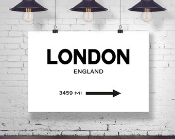 London City Sign Wall Art London City Sign London Art London Photo England Wall Art City Wall Art Personalized Art Signpost  sc 1 st  Etsy & London Poster London Print London Wall Art London Decor London