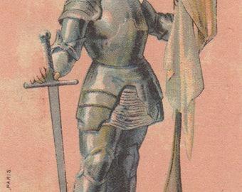 Joan Of Arc - Duroyon & Ramette - Antique Victorian Trade Card