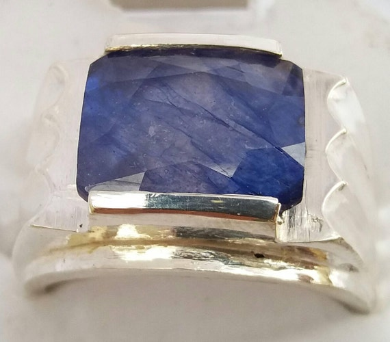 sapphire watch natural certified ceylon real star size diamond ring big srilanka gold blue