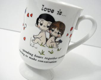 Love is ... Spending Time Together Without Having To Make Conversation Mug Vintage 1972