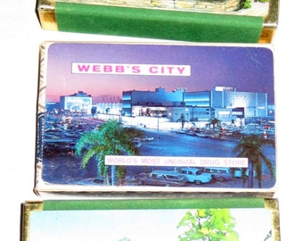 3 Decks Playing Cards - Advertising - Patricia Murphy's Restaurants and Webb City Drug Store