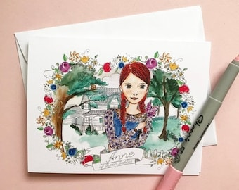 ON SALE Friendship Card - Anne of Green Gables - greeting card - Blank inside