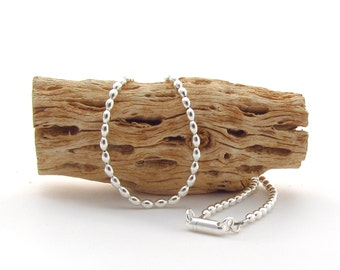 Sterling Silver Melon Bead Necklace