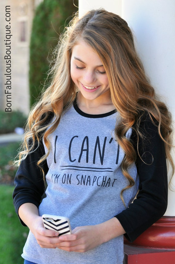Sale Cute Girls Raglan Red And White I Cant-6375