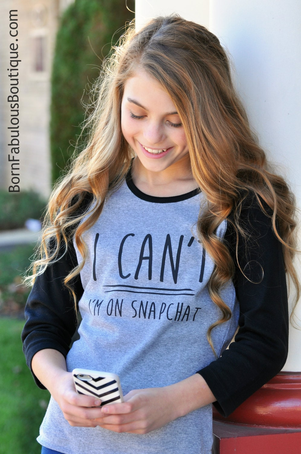 SALE Cute Girls Raglan Red And White I Can't