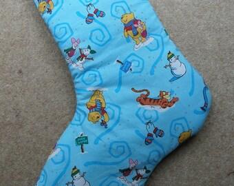 Christmas Stocking Padded Winnie the Pooh print
