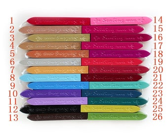 Sealing Wax Stick - Seal Wax - Stamp Wax - 26 Colors to Choose From