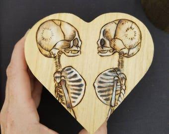 Fetal Skeleton Heart Box