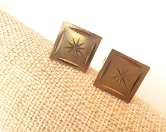 SALE Diamond cut reatractable cufflinks