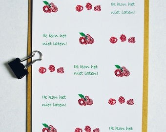 Raspberries Map I could not let A5