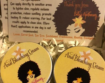 Anal Bleaching Cream No Hydroquinone! All natural recipe - Halting the production of melanin