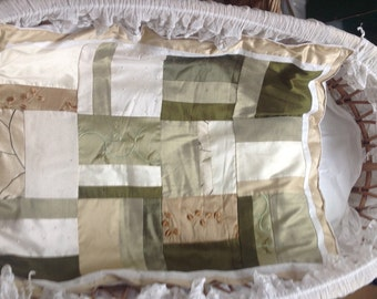 Baby blanket made of silks, a heirloom piece