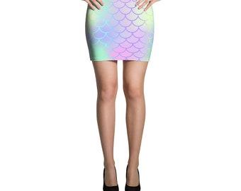 Mermaid Mini Skirt, Festival, Burning Man, Festival Clothing, Rave Outfit, Festival, Rainbow, Unicorn, Unicorn Party, Bachelorette, Boho