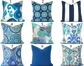 Captivating Blue Outdoor Pillows ANY SIZE Outdoor Cushions Outdoor Pillow Covers  Decorative Pillows Outdoor Cushion Covers Best Pillow OD You Choose