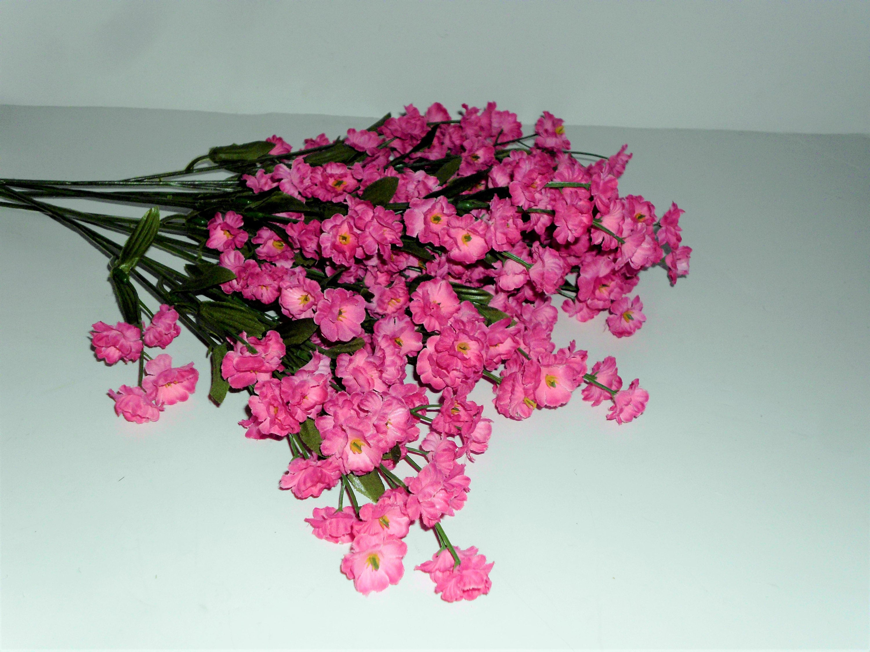 Dark Pink Silk Double Babys Breath Filler Flower Your Choice Of 6