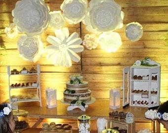 Paper Flower Backdrop, Gigant Paper Flowers, Wedding Backdrop, Paper Flowers Wall,Flowers Decoration