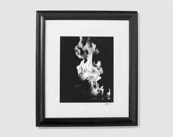 Self Immolation II - Original Photograph - Silver Gelatin Print