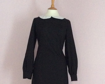 1960's made to order various sizes vintage peter pan collar dress with sleeves