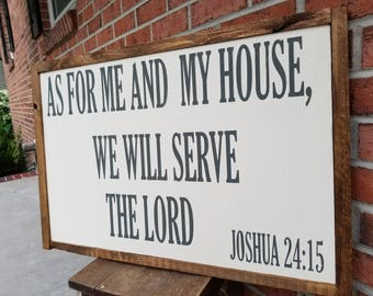 As For Me and My House, We Will Serve The Lord Hanging Sign