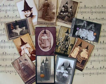 Fourth set of witches cabinet trading cards