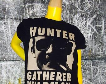 Hunter S. Thompson Wildman Sketch & Destroy Mens Black T Shirt
