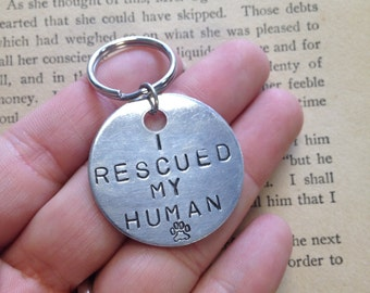 The Ronald Tag - I Rescued My Human Vanity Dog Tag