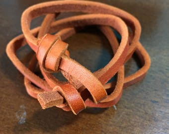 Copper leather multiwrap bracelet or choker!