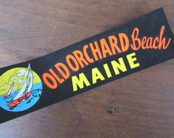 Small Maine Bumper Sticker Vintage Old Orchard Beach Maine