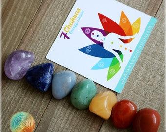 Seven Chakra stone set, Seven chakras, 7 chakra, Chakra Gemstones, Meditation Stone Set, Healing Stones, Chakra Crystal Set, Reiki Infused