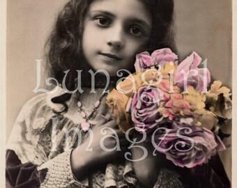 500 Vintage PHOTOS, Victorian GIRLS children, Vintage Images, antique Postcards, Victorian altered art ephemera, digital images DOWNLOAD