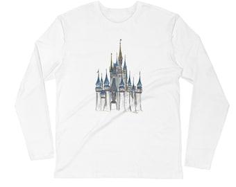 DISNEY Cinderella Castle Long Sleeve Crew Shirt - from Walt Disney World Resort - Disney shirt - high quality apparel - choose color lRLzBfbyv