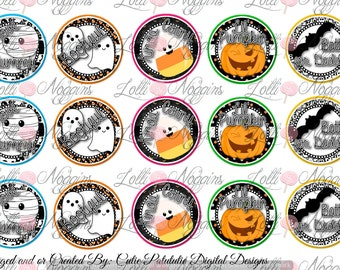 Halloween 1 inch Digital Bottle Cap file