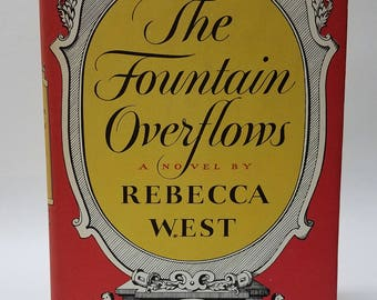Vintage The Fountain Overflows Novel by Rebecca West Book Club Edition 1956 Fiction Hardcover