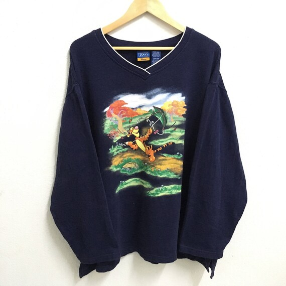 RARE!!! Genki Tv Fullprint Multicolour Design Crew Neck White Colour Sweatshirts Jumper Pullover L Fit M Size xiaOvy