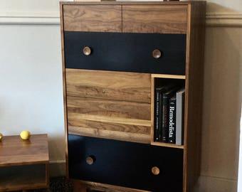Lagom Dresser - Solid Walnut - Mid Century Modern Inspired