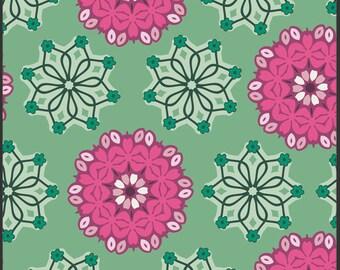 Art Gallery Fabrics - Hyperreal Garden Radiant Bouquet Emerald