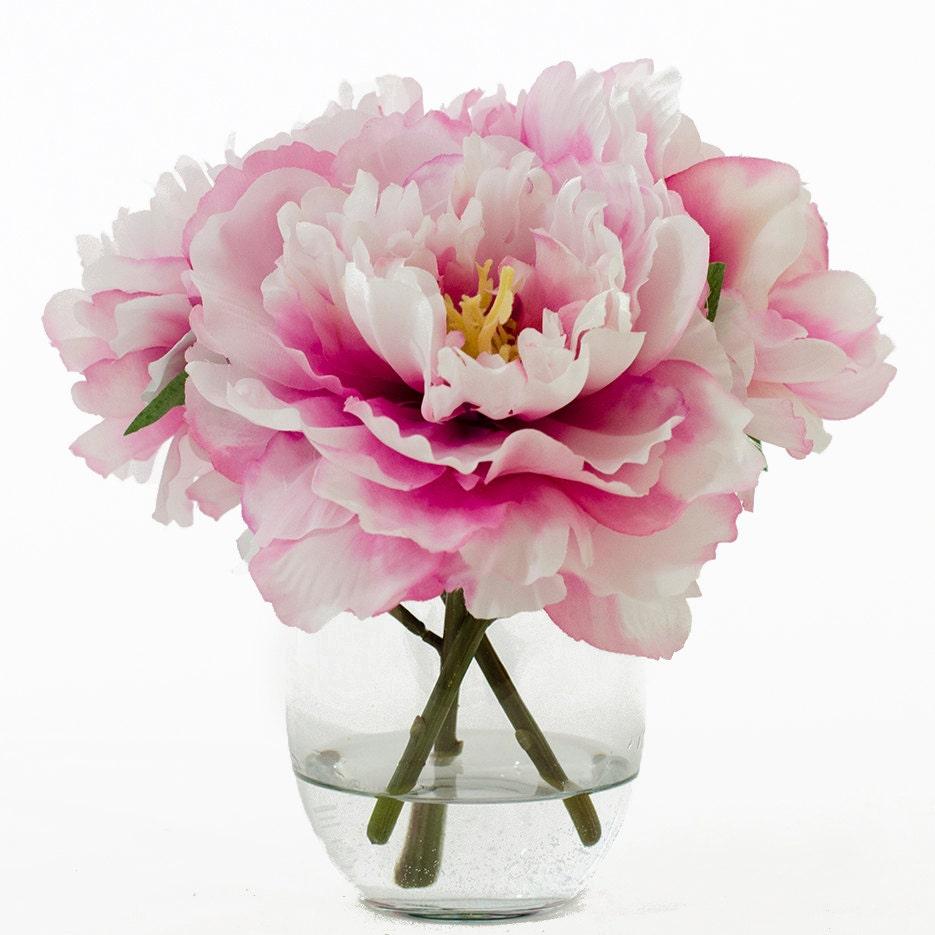 Silk peonies arrangement with fuchsia silk flowers artificial zoom reviewsmspy
